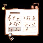 楽譜と音符