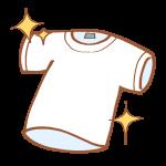 洗い上がりのTシャツ