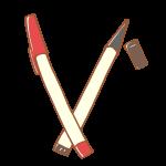 赤と黒のペン