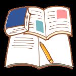 辞書と教科書とノートで勉強中