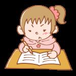 一生懸命勉強中の女の子