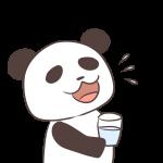 うがいをするパンダ