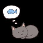 魚の夢をみる猫