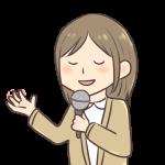 歌う女の人