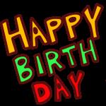 「HAPPYBIRTHDAY」の文字