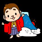さると富士山