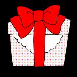 プレゼント赤