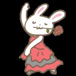 ウサギのフラメンコ