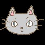 猫の顔(グレー)