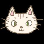 猫の顔(トラ)