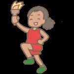 聖火ランナー(黒人女性)
