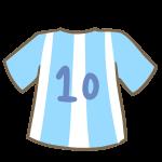 サッカーのユニフォーム(水色)