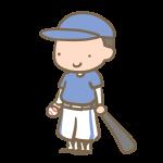 野球少年(バット)青