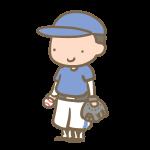 野球少年(グローブ)青