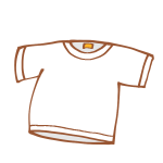 真っ白なTシャツ