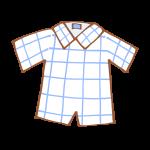 ウィンドウペンチェックの半袖シャツ