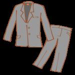 グレーのパンツスーツ