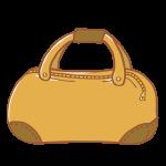 キャメルの旅行鞄