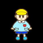 帽子を被っている園児(男の子)