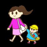 ママと幼稚園へ・ママのお迎え(女の子)