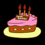 お誕生日ケーキチョコ