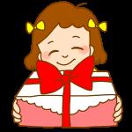 プレゼントをもつ女の子