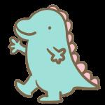 かわいい恐竜(水色)