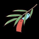 笹の葉と短冊
