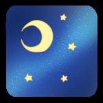 天の川と月と星