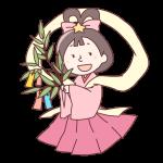 笹の葉を持った織姫