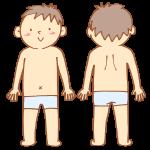 男性の正面と背面
