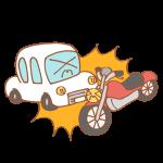 車とバイクの事故