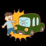 歩行者と車の事故