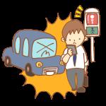 車と歩きスマホの歩行者の事故