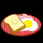 トースト&ベーコンエッグ