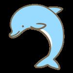 イルカ(水色)