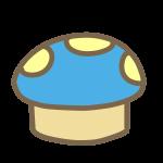 キノコいす(青)