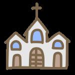 三角屋根の教会
