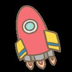 ロケット(赤)