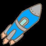 ロケット(青)