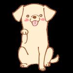 おてをする犬