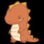 茶色い恐竜