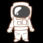 宇宙服を着た人