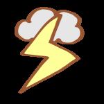 雷の日のマーク