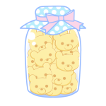 瓶詰クッキー(くま)