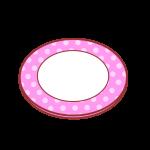 水玉柄のお皿