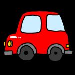 赤い乗用車