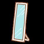 白い姿見鏡