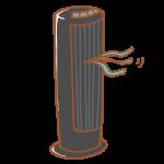 黒い縦型扇風機