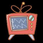 カラフルなブラウン管テレビ